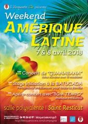 Week end Sud Américain - Stage d'initiation à la BATACUDA ( percussions ) et Concert avec BOM TEMPO