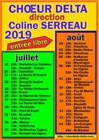 Chorale du DELTA dirigée par Coline Serreau  - Tournée 2019 du 19 juillet au 14 août